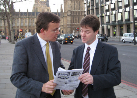 Martin Tod and Nick Clegg discuss crime survey