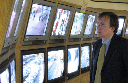 Martin Tod visits CCTV Control Centre