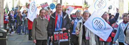 Martin Tod and the Liberal Democrats backed the recent demonstration against cuts at the hospital