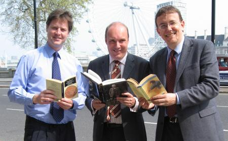 Mark Oaten, Martin Tod and Nick Clegg back the Hampshire librarians read out from London