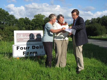 Eleanor Bell, Charlotte Bailey and Martin Tod discuss the Poles Lane crusher plans