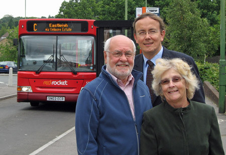 Grahame Smith, Martin Tod and Haulwen Broadhurst campaigned to save the Service C in Chandler's Ford
