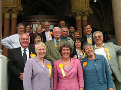 Lib Dem team celebrates results in Winchester