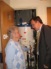 Discussing heating at Danemark Court