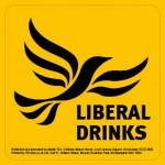 Square Aqua Beermat - Liberal Drinks Logo